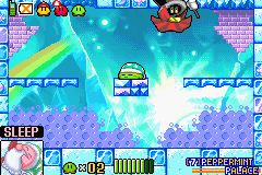 Kirby & the Amazing Mirror - sleeping in a boss fight - User Screenshot